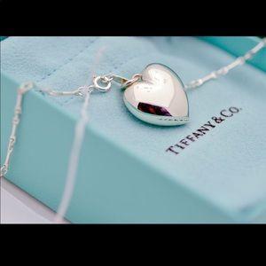 Tiffany & Co Ziegfeld Puffy Heart Silver Necklace